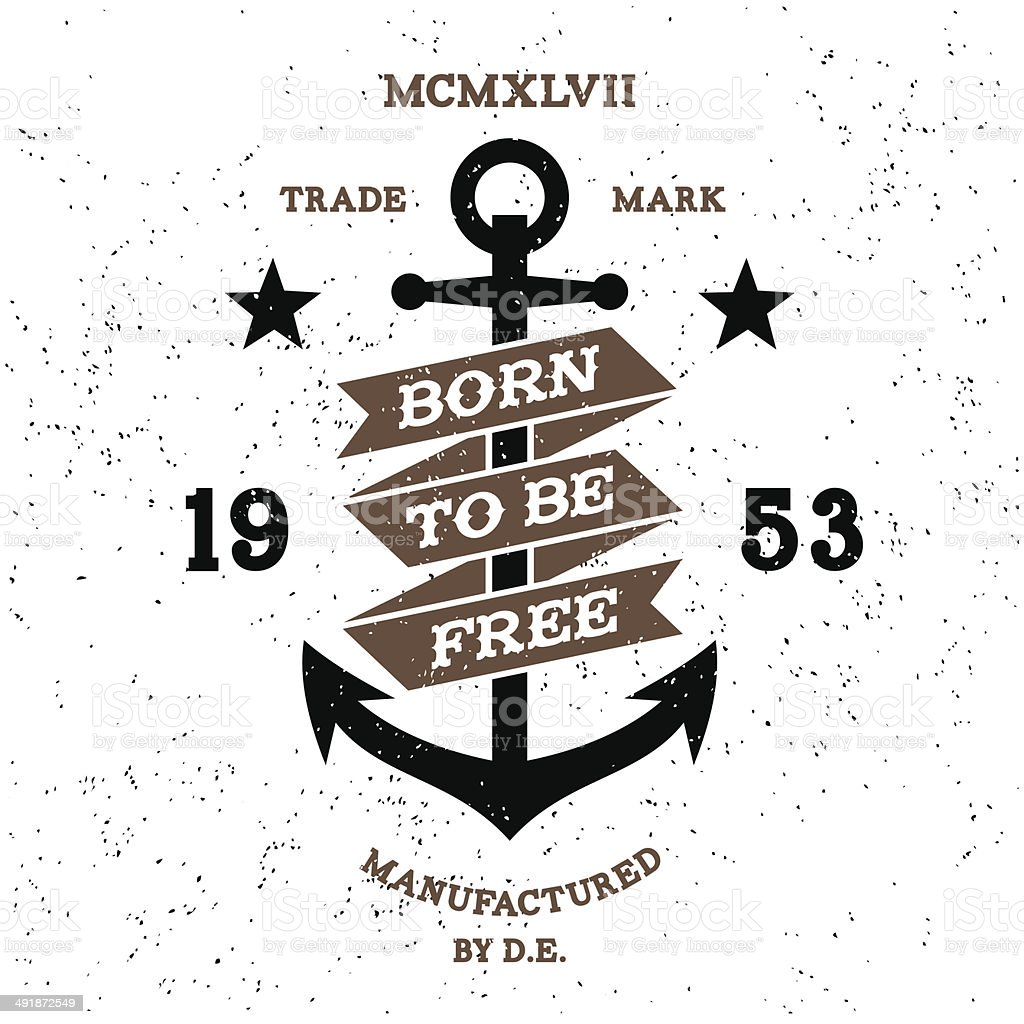 vintage label vector art illustration