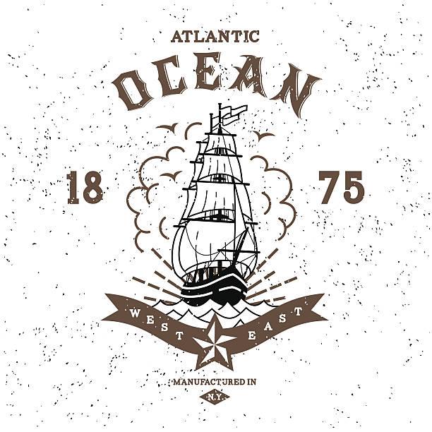 ilustraciones, imágenes clip art, dibujos animados e iconos de stock de vintage etiqueta - tatuajes náuticos