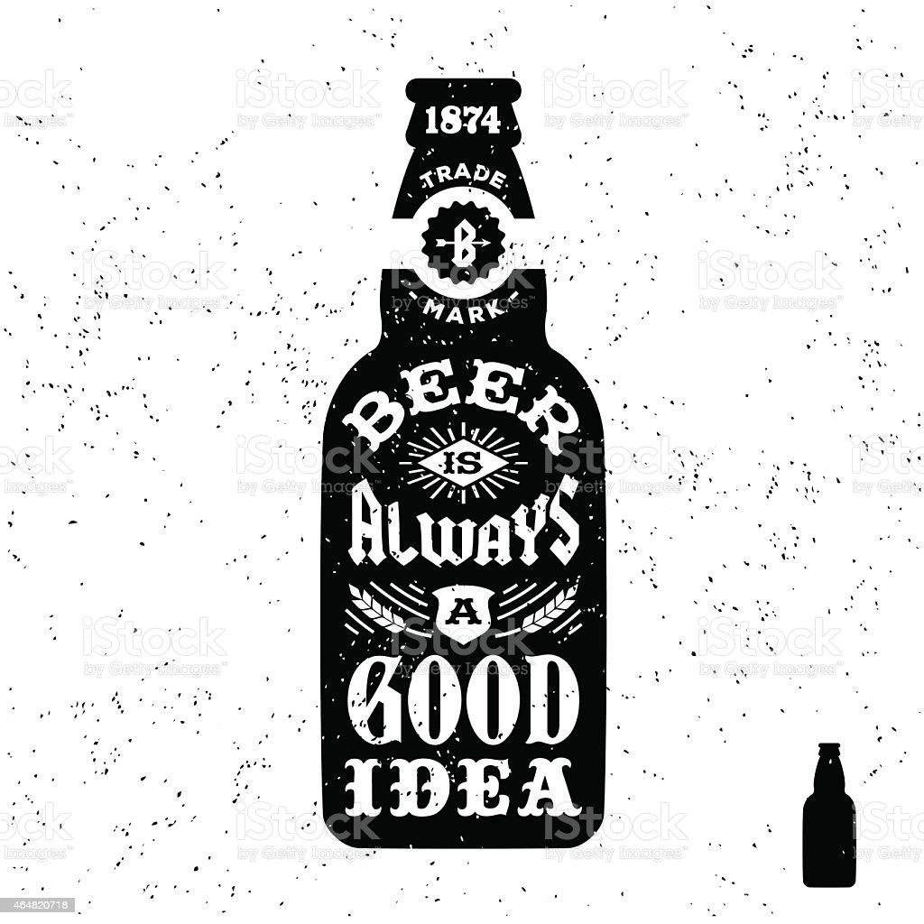 Vintage label with beer bottle stock vector art more images of vintage label with beer bottle royalty free vintage label with beer bottle stock vector art biocorpaavc Gallery