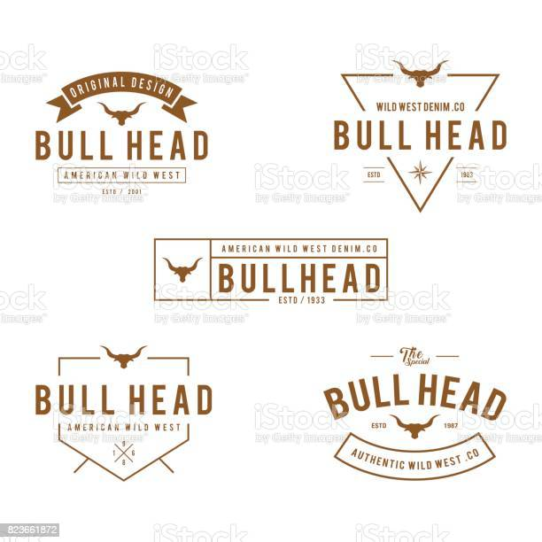 Vintage label with silhouette of bull head texas wild west theme in vector id823661872?b=1&k=6&m=823661872&s=612x612&h=uvg7trsqqcavr46ctkn6kwgoeb8co3x1u5581ncq8lq=