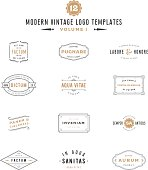 Vintage Labels and icon Templates