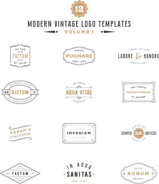 Vintage Labels und Vorlagen-Symbol – Vektorgrafik