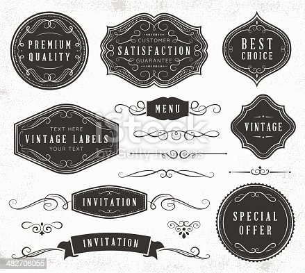 istock Vintage Labels and Ornaments 482708055