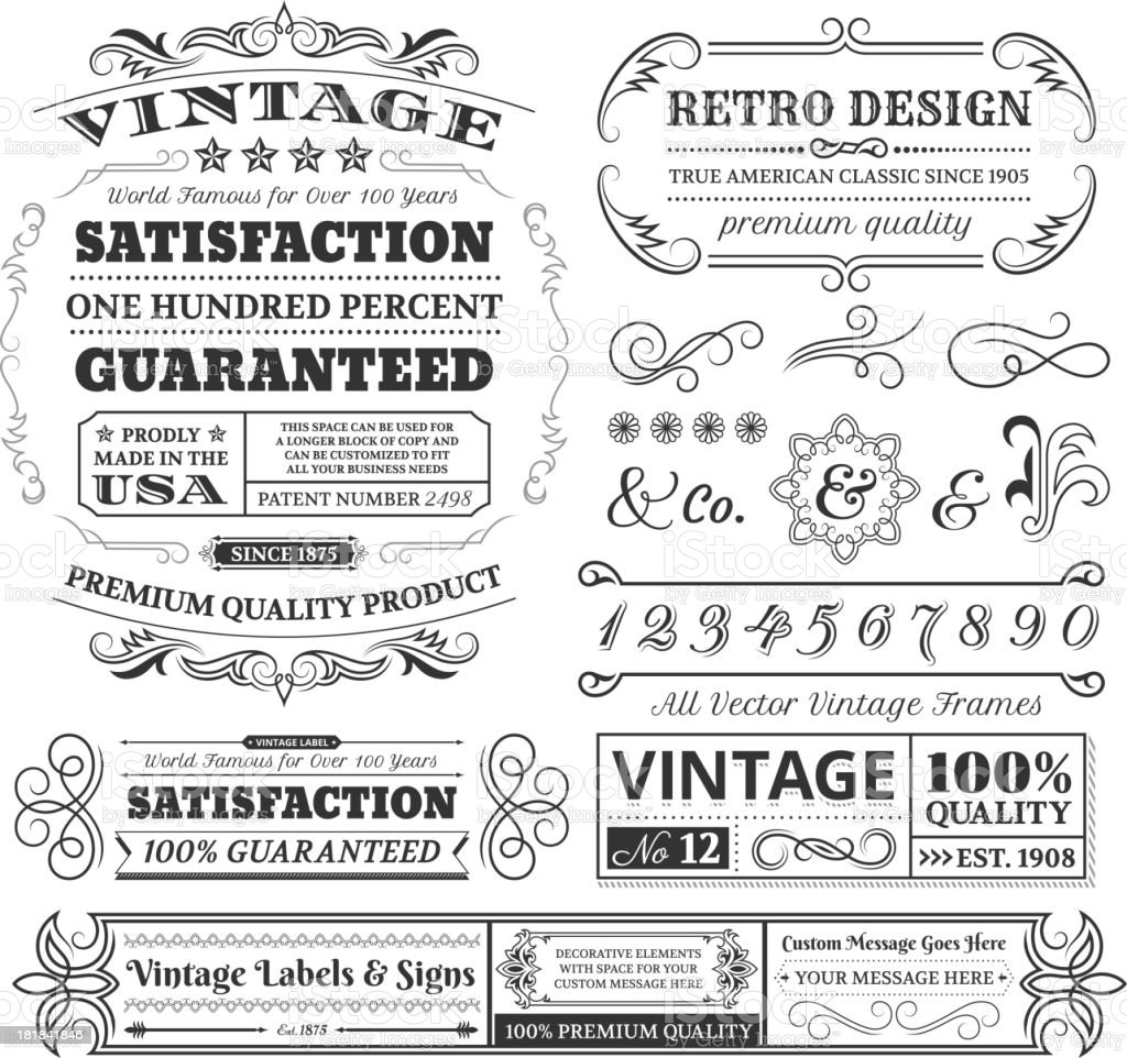 Vintage labels, frames and designs on white space royalty-free vintage labels frames and designs on white space stock vector art & more images of advertisement