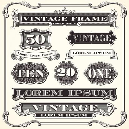 Vintage Labels, Frames and Ornaments