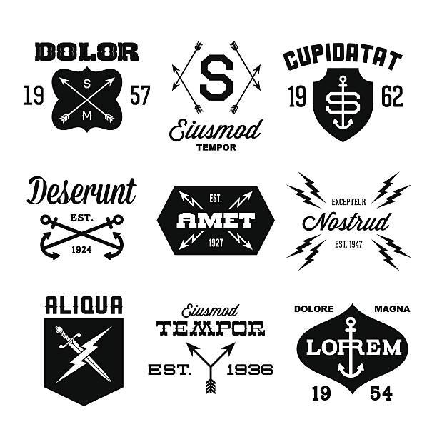 illustrations, cliparts, dessins animés et icônes de étiquettes vintage - tatouages poignards