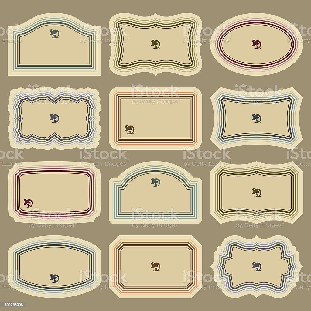 vintage labels set (vector) royalty-free stock vector art