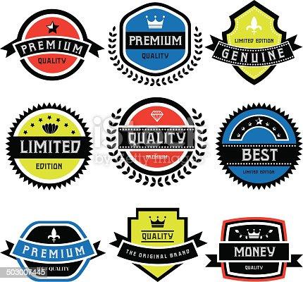 labels set of retro vintage badges