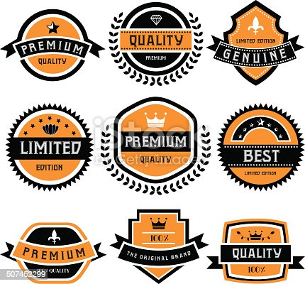 labels set of retro vintage badges