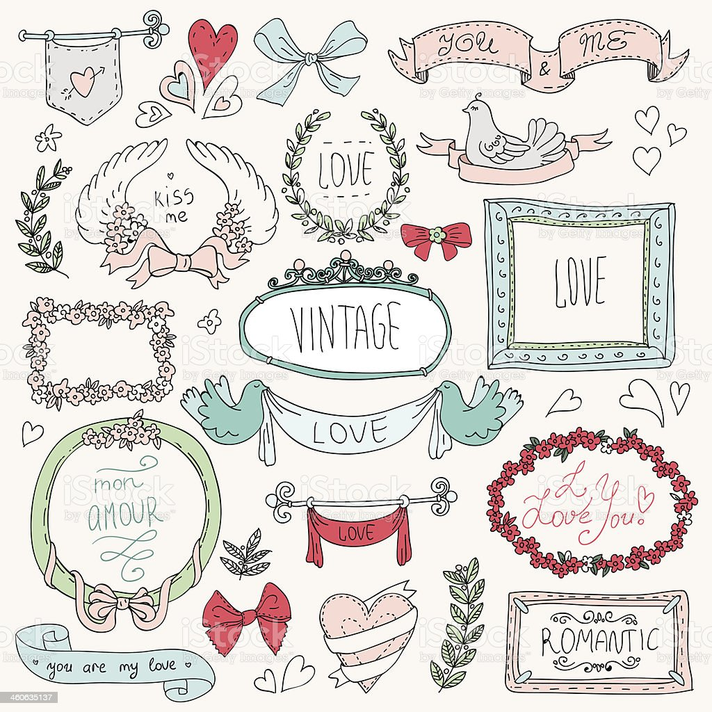 vintage labels set, vector vector art illustration