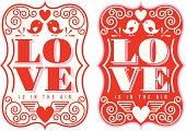 Vintage Labels - St. Valentine's Day