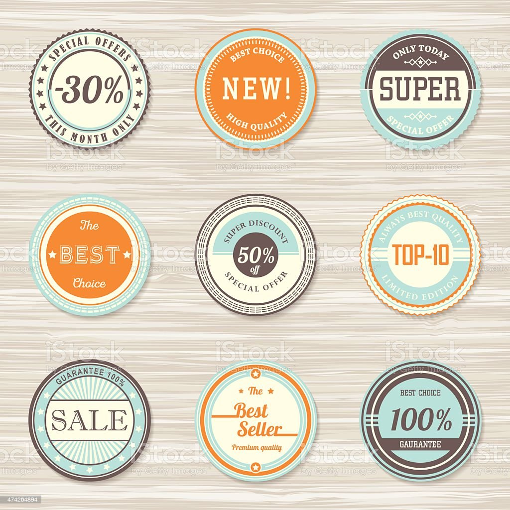 Vintage labels template set new super best choice sale stock vector vintage labels template set new super best choice sale royalty free maxwellsz