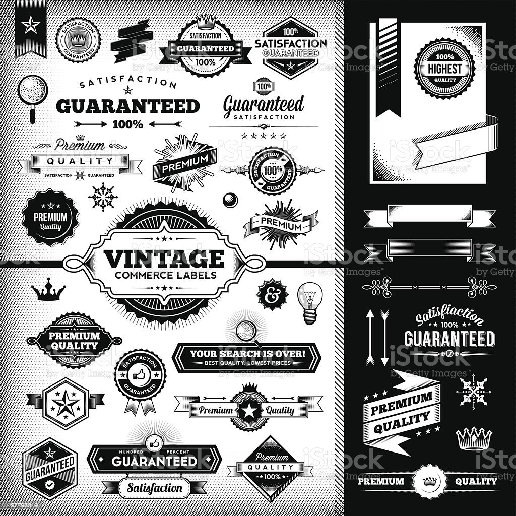 Vintage Labels Toolkit vector art illustration