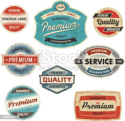 Set of vintage labels. EPS 10 file with transparencies. Scratches and stains can be removed.File is grouped and layered with global colors.Only gradients used. Hi-res jpeg included.More works like this linked bellow.