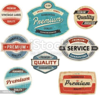 istock Vintage Labels 165926428