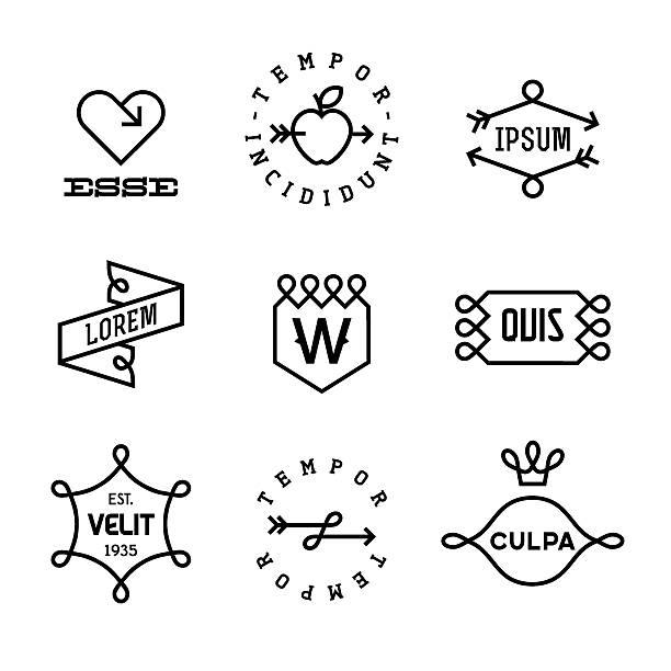 vintage etiquetas - ilustración de arte vectorial