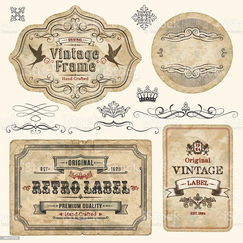 vintage labels stock vector art amp more images of antique