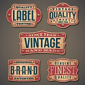 Set of detailed vintage, grunge labels.