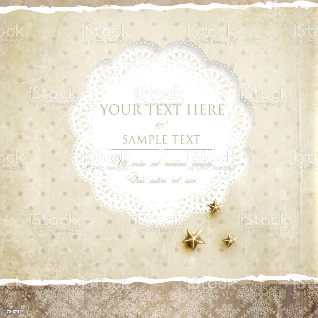 Vintage Lace Background royalty-free stock vector art