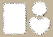 Vintage lace place mat, decorative paper design, laser cutting template