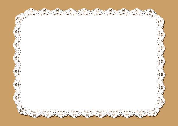 ビンテージ レース ランチョン マット、装飾的なペーパー カット アウトのデザイン - ランチョンマット点のイラスト素材/クリップアート素材/マンガ素材/アイコン素材