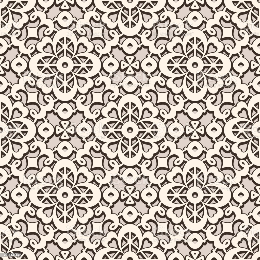Vintage Lace Texture Seamless Pattern Royalty Free Stock Vector