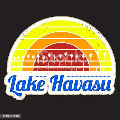 Vintage Lake Havasu Sunset Graphic