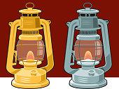 Vintage lantern lamp vector illustration. Easy editable vector..