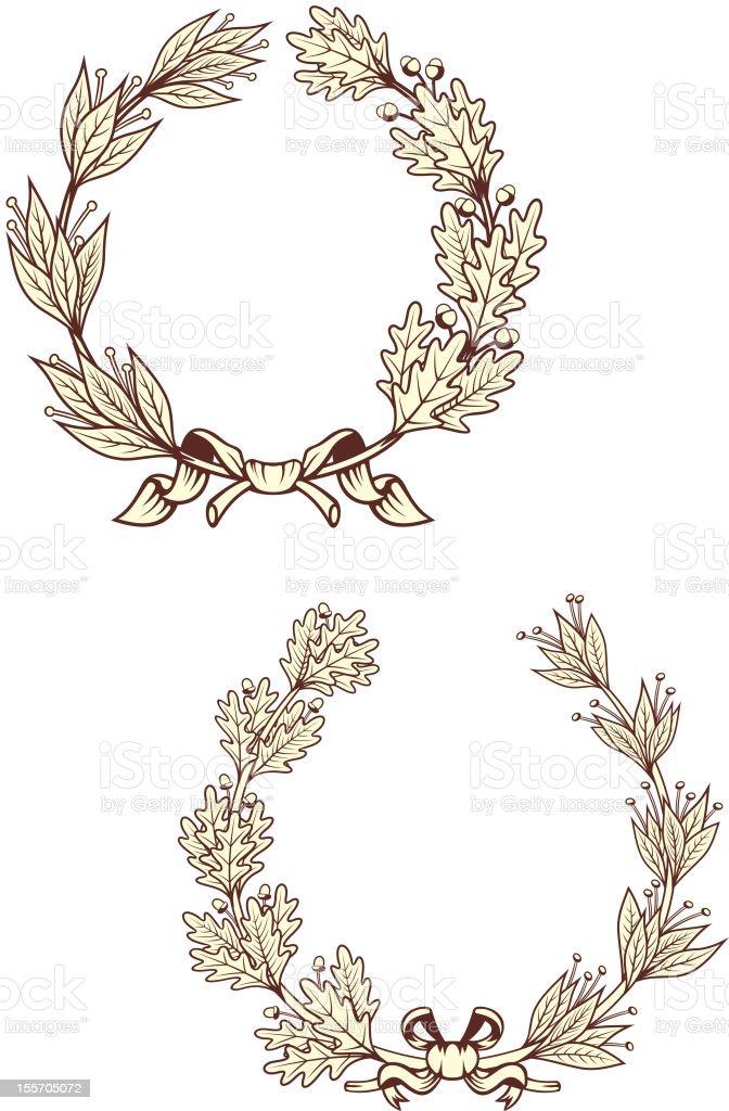 Vintage laurel wreathes royalty-free stock vector art