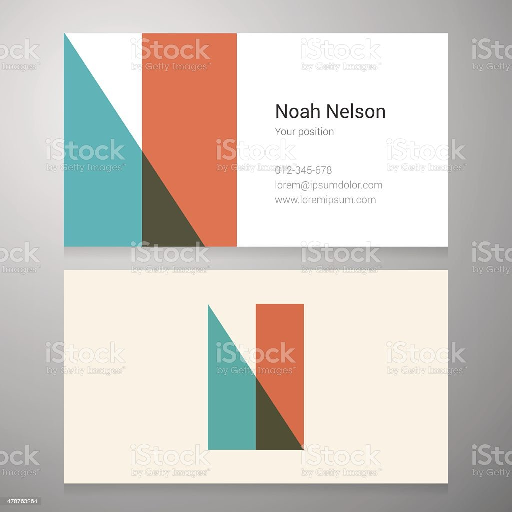 Vintage Letter N Icon Business Card Template Stock Vector Art & More