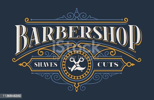 Vintage lettering for the barbershop