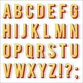 Vintage letters alphabet