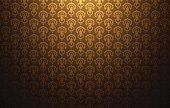 Vintage light pattern gold background