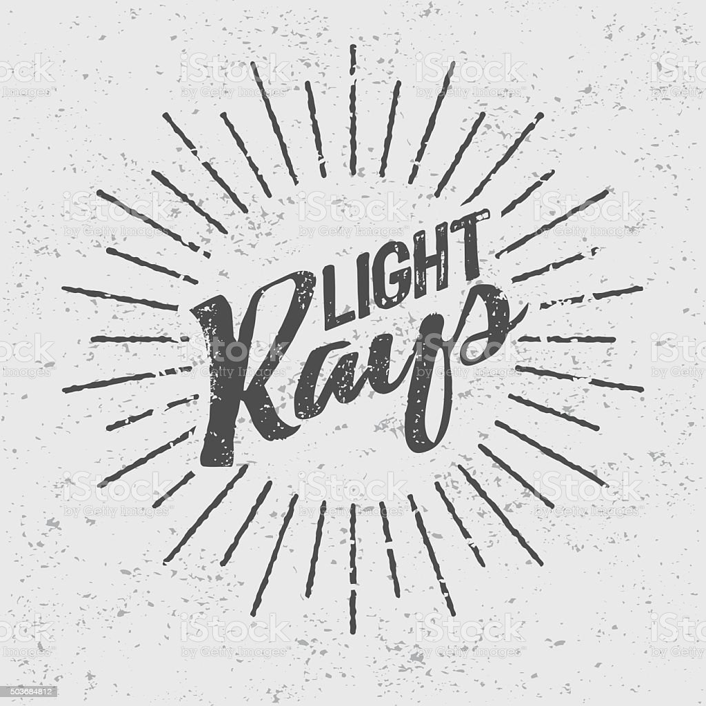 Vintage Light Rays Icon Template Stock Vector Art  for Vector Light Rays Vintage  53kxo