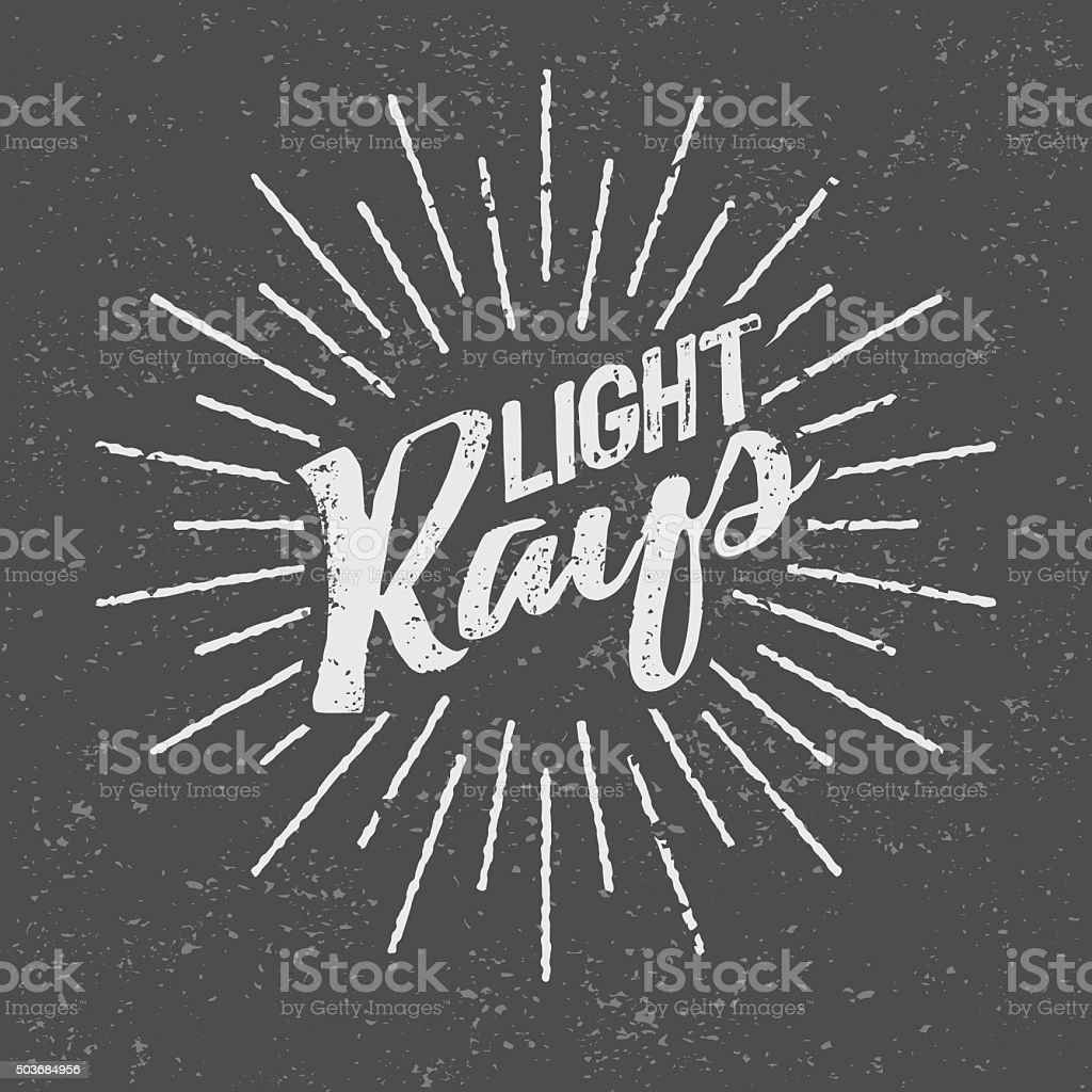 Vintage Light Rays Icon Template Stock Vector Art  for Vector Light Rays Vintage  166kxo