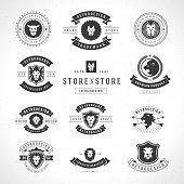 Vintage Lion Logotypes set