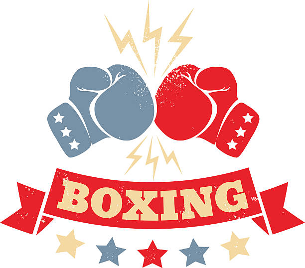 stockillustraties, clipart, cartoons en iconen met vintage logo for a boxing - knock out