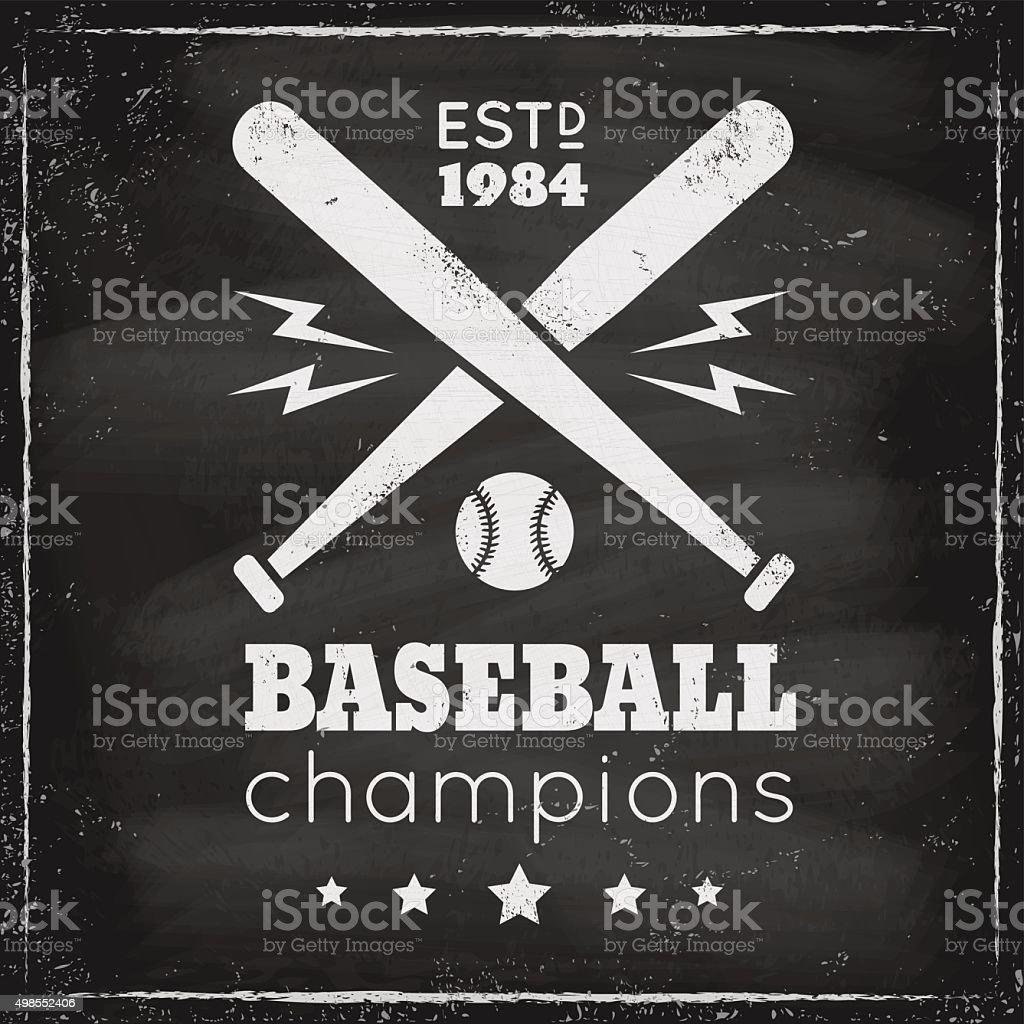 Vintage-logo für basebal – Vektorgrafik