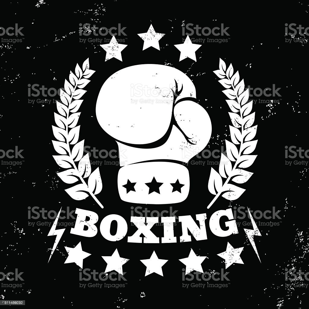 vintage logo for boxing vector art illustration