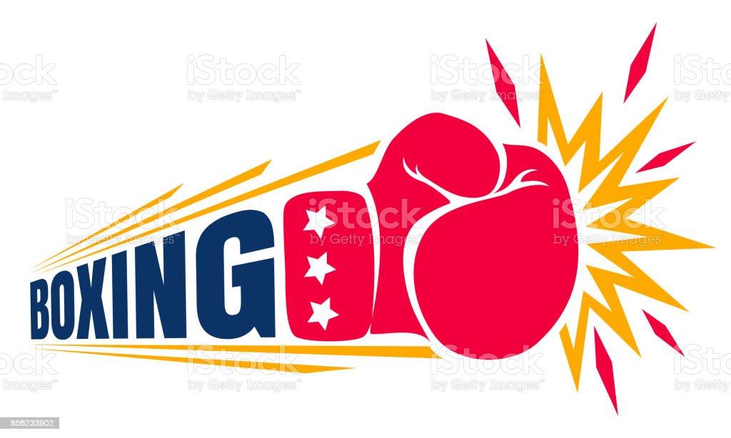 ボクシングのヴィンテージのロゴ。 ベクターアートイラスト
