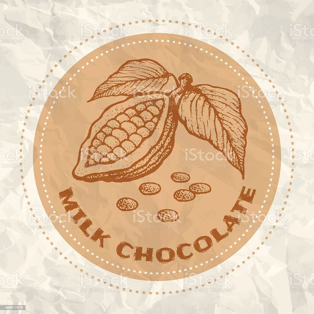 Vintage logo of cocoa vector art illustration