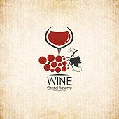 Food and drinks logotype symbol design. Crumpled vintage paper background