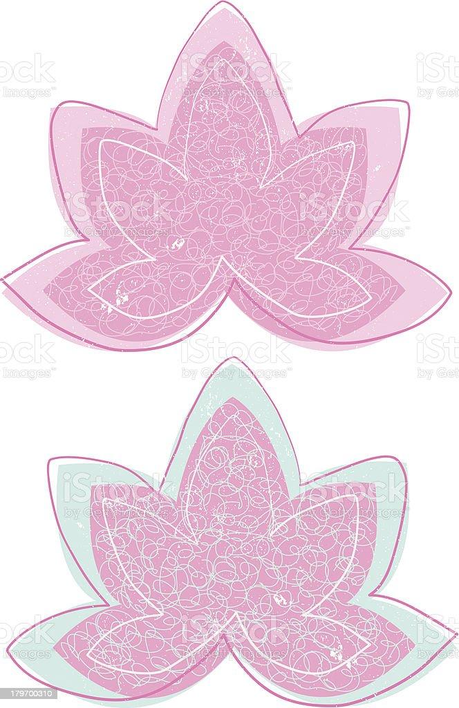 Vintage Lotus Symbol Set royalty-free stock vector art