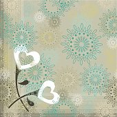 Love flowers on vintage background. You can repeat it as much as you want.