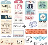 Vintage Luggage Tags and Stamps