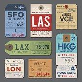 istock Vintage Luggage Tags 539676790