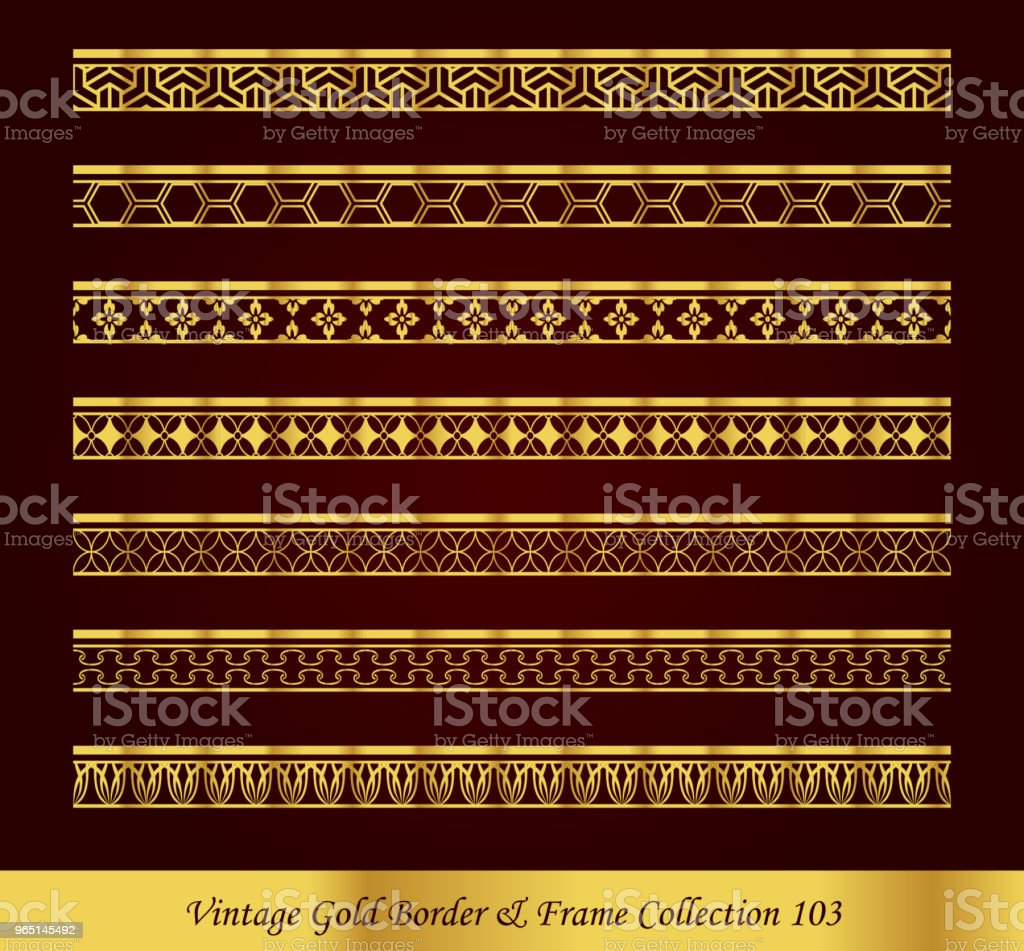 Vintage Luxury Gold Border Frame Vector Collection royalty-free vintage luxury gold border frame vector collection stock vector art & more images of antique