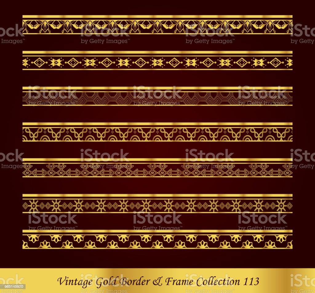 Vintage Luxury Gold Border Frame Vector Collection vintage luxury gold border frame vector collection - stockowe grafiki wektorowe i więcej obrazów antyczny royalty-free
