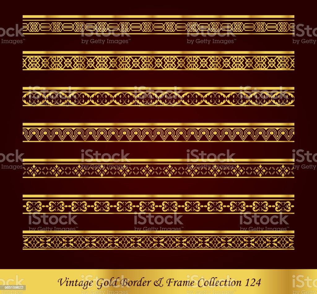 Vintage Luxury Gold Border Frame Vector Collection royalty-free vintage luxury gold border frame vector collection stock vector art & more images of antique