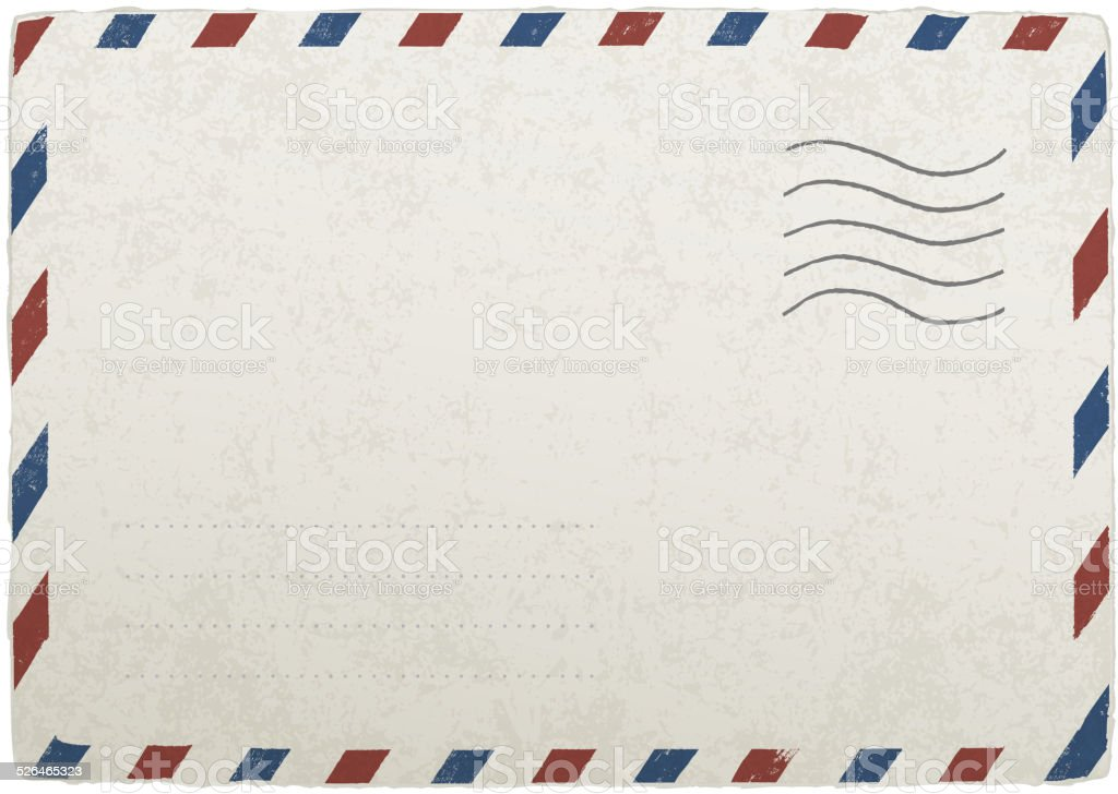 Vintage Mailing Envelope Vector Template For Your Designs Eps Stock - Mail envelope template